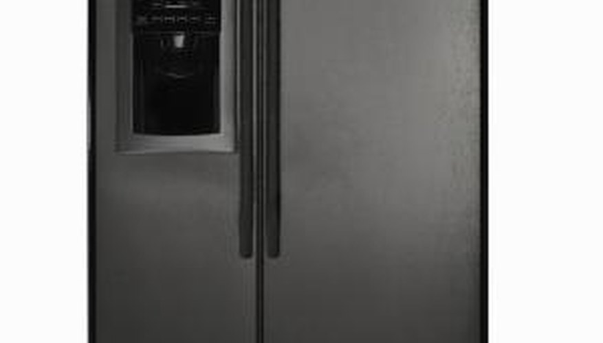 A refrigerator's water dispenser lines are located inside the freezer section.