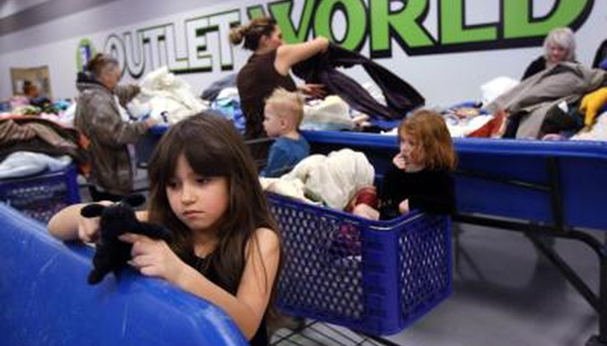 Goodwill donations help provide clothing and toys for families.