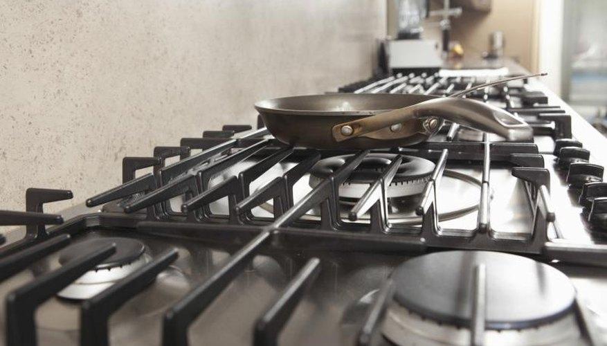 Close-up of stove top.