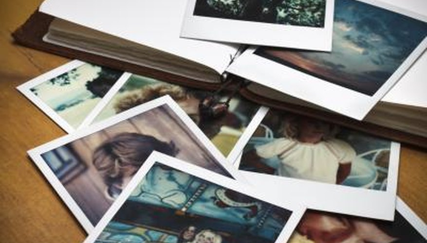 Old polaroid photographs