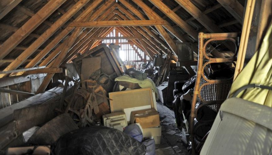 In the attic, the mess under the mess can harm you.