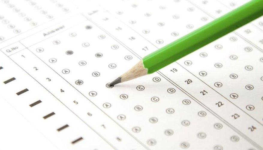 Pencil filling in bubbles on a standardized test.