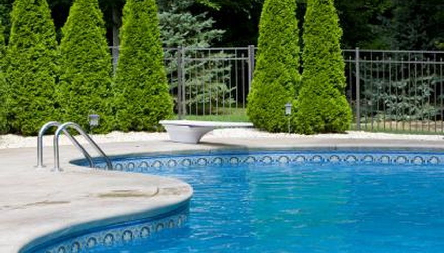 In-ground and above-ground pools have a filtration system to keep pools clean.