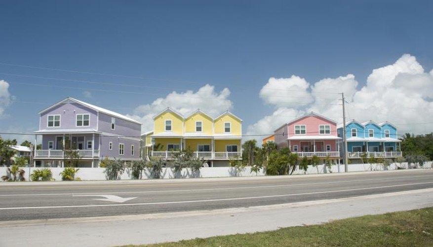 Four colorful homes