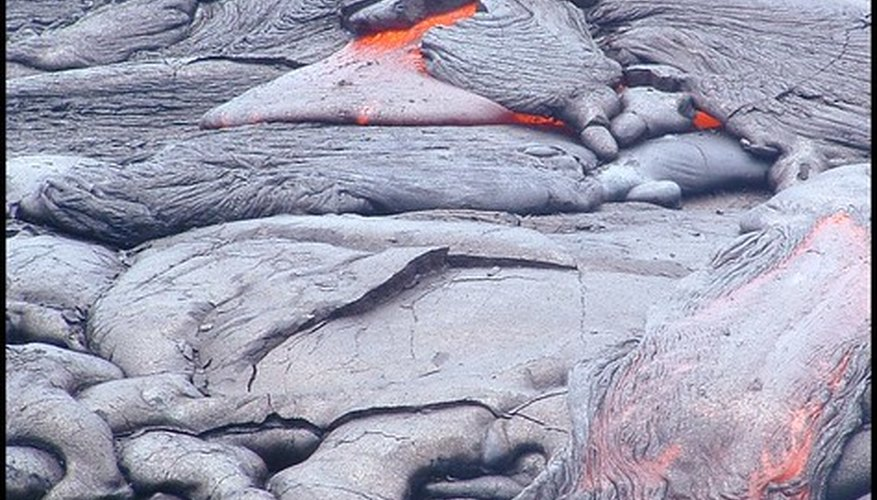 Cooled lava usually turns a black or grey color.