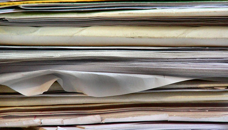 File folders can be recycled.