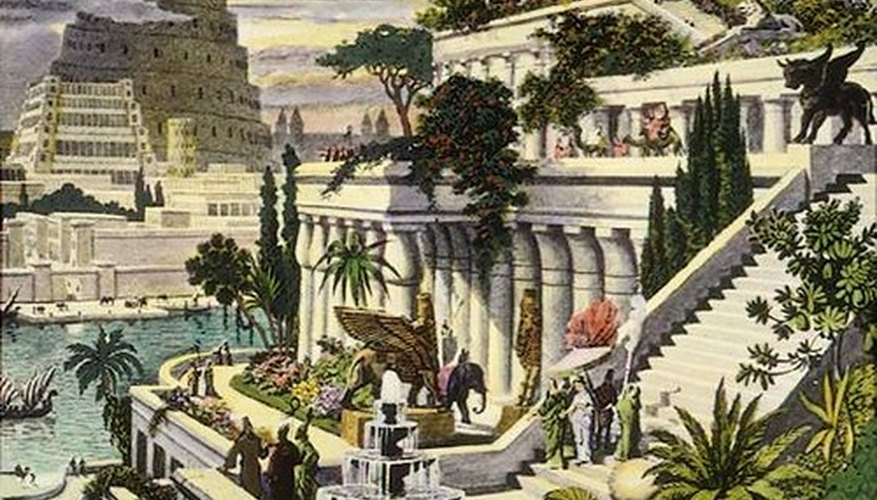 The Hanging Gardens of Babylon were one of the Seven Wonders of the Ancient World.