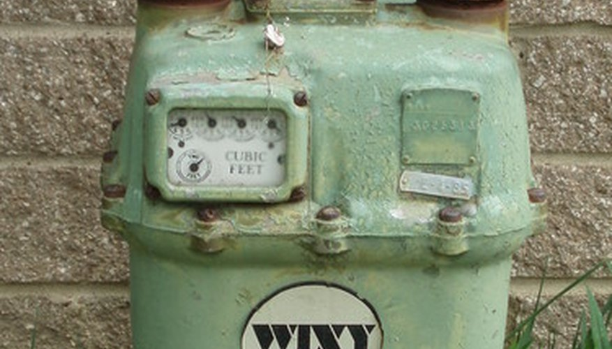 A typical gas meter.