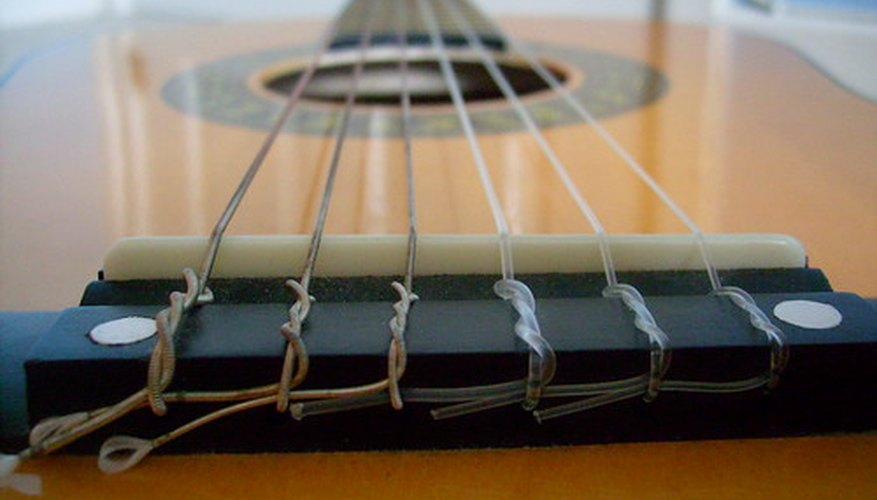 Classical guitar strings.
