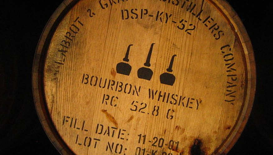 Whiskey barrels are typically made of white oak wood.