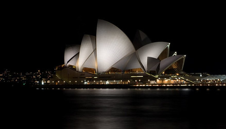 The Sidney Opera House, in Sydney, Australia