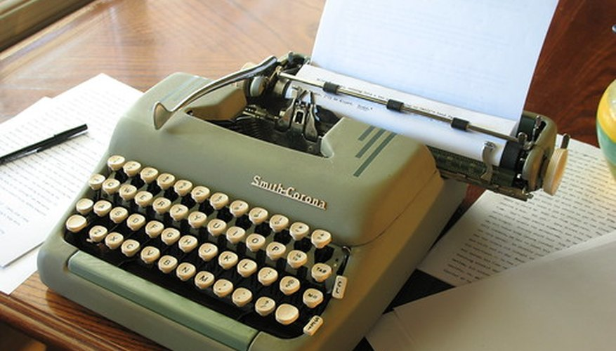 Although they used to be written with typewriters, deadline letters are still in use in the modern office.