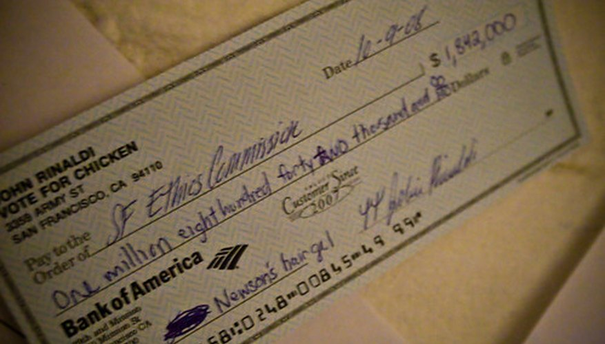 The check has a long, interesting history.