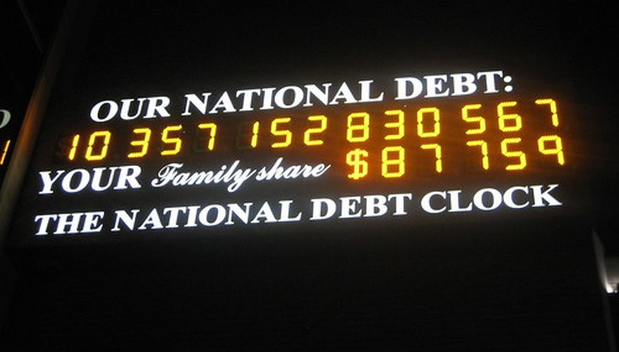 The national debt, one of the key measures in macroeconomics.
