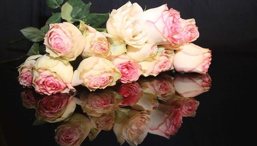 Flowers on a casket