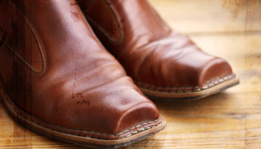 Make tight leather boots fit by adding an elastic gusset.