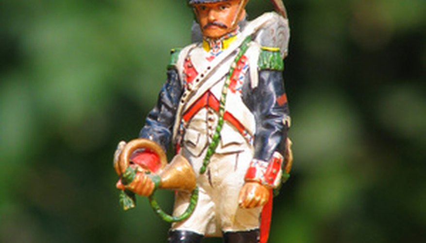 Metal soldiers offer modelers high levels of detail.