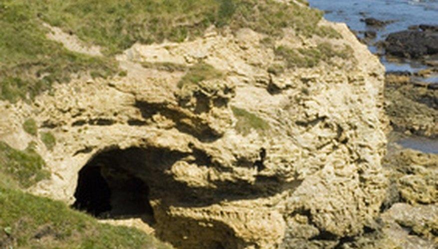 Las cuevas son lugares oscuros, pero la luz puede penetrar en la entrada durante ciertas partes del día.