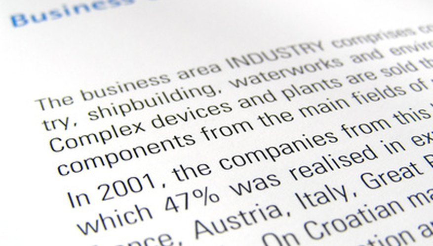 How to Format a Title Page for a Business Report Bizfluent