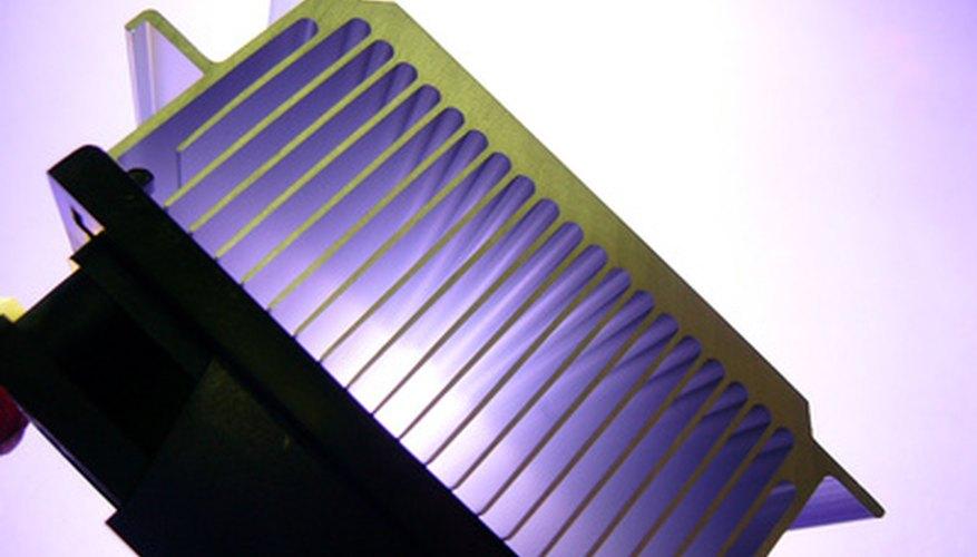 metallic radiator with gradation
