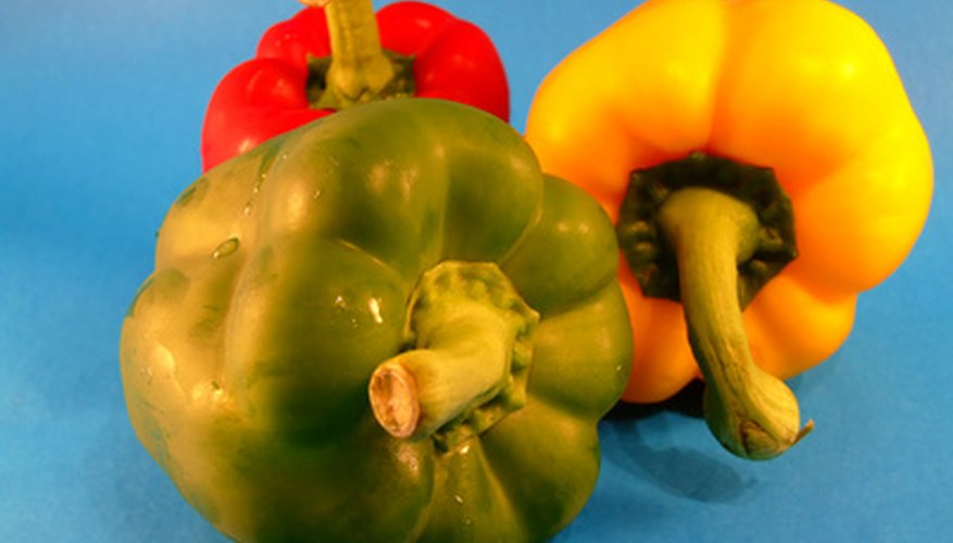 Bell peppers add color and flavor to stir-fries.