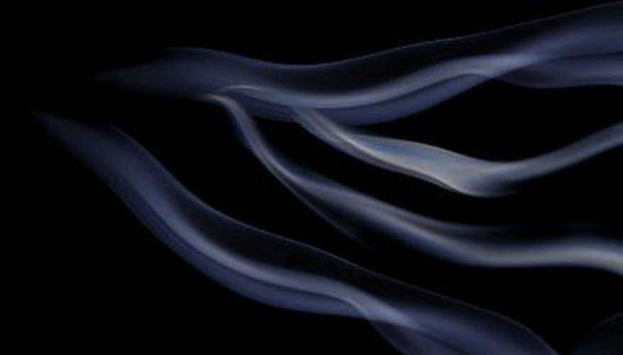 smoke background (incense stick smoke wisps)