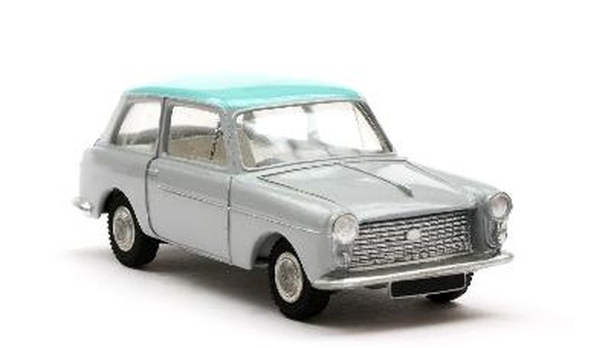 Toy model car sixties car