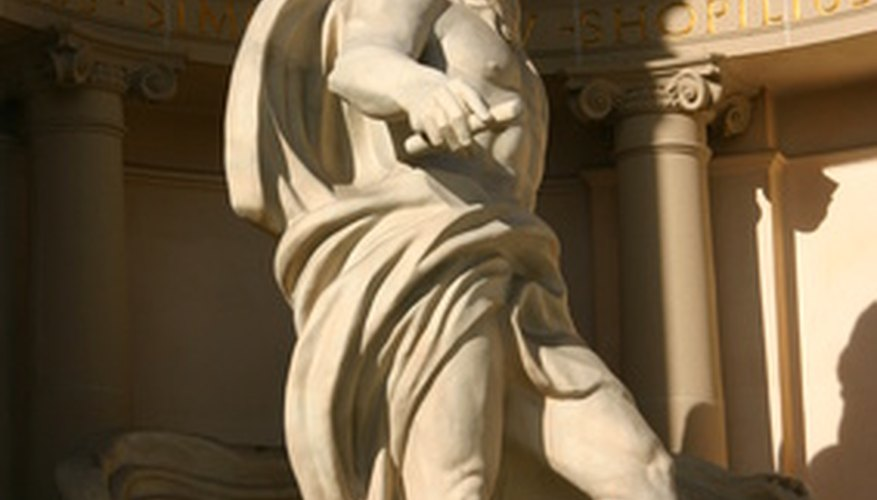 Sculptures were a staple of Greek art.