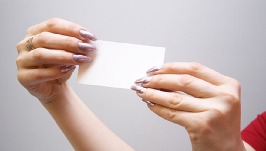Distribute business cards for an inexpensive means of getting your message out.
