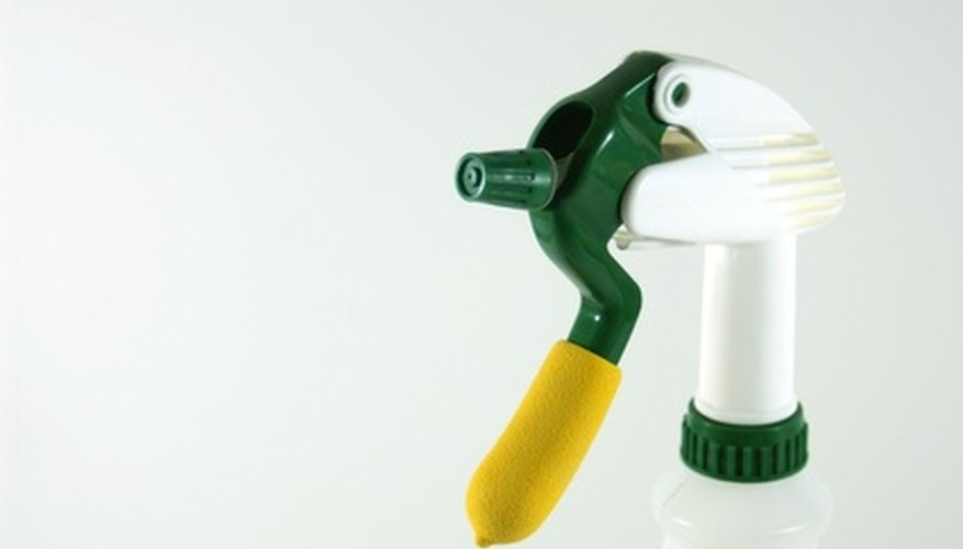 Use a plastic spray bottle to dispense homemade insecticides.