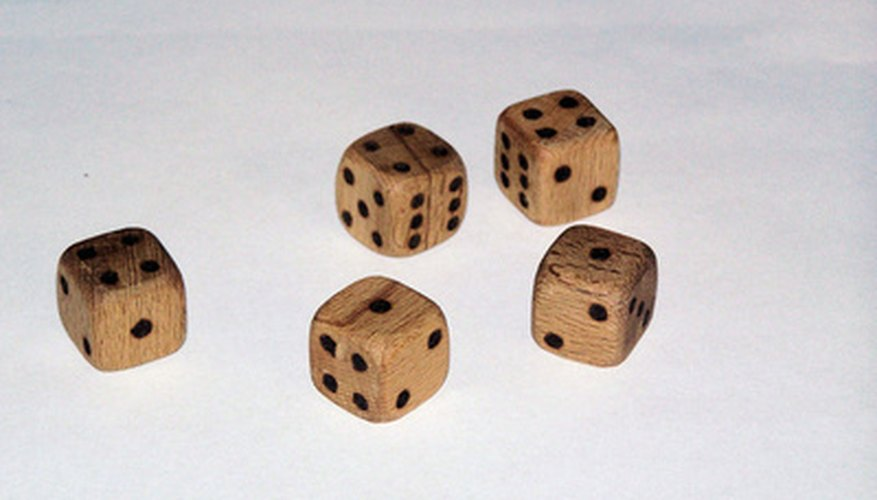 Custom-made wood dice