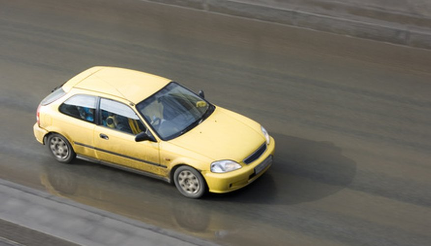 yellow car, a honda japanese sport car model