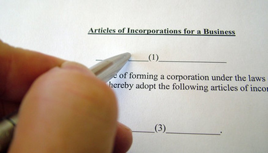 The articles of incopration show how the non-profit is structured.