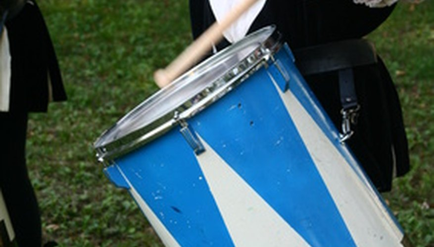 Marching band percussionists often tape their sticks.