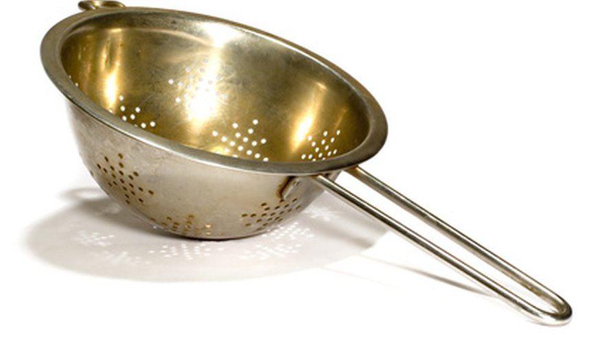 Use a colander to drain the water from your cooked vegetables.