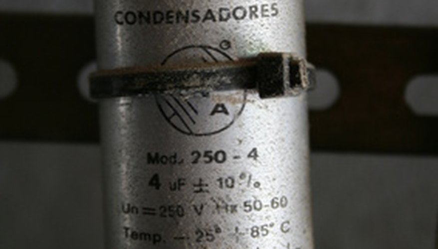 A capacitor starts a single-phase AC electric motor.