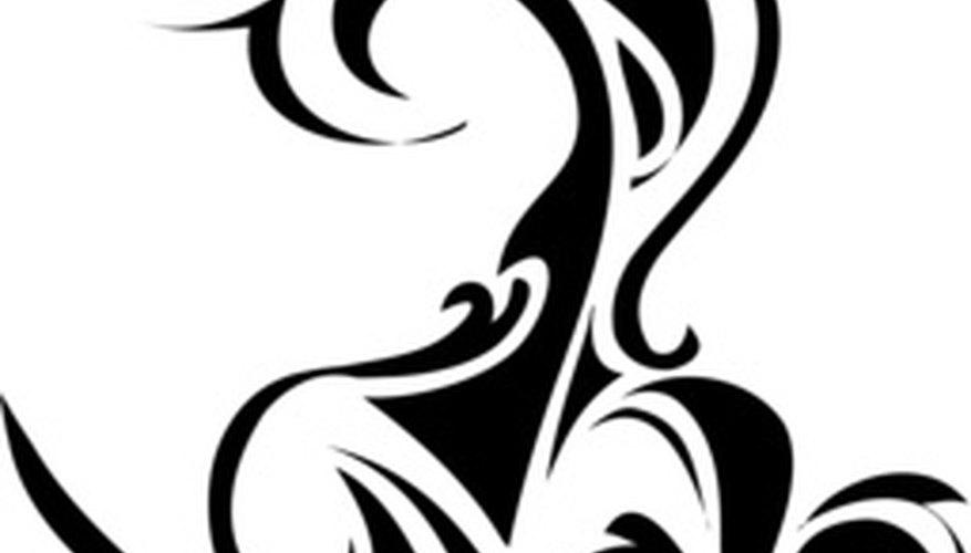 Los diseños tribales se caracterizan por alternar espirales gruesos y delgados.