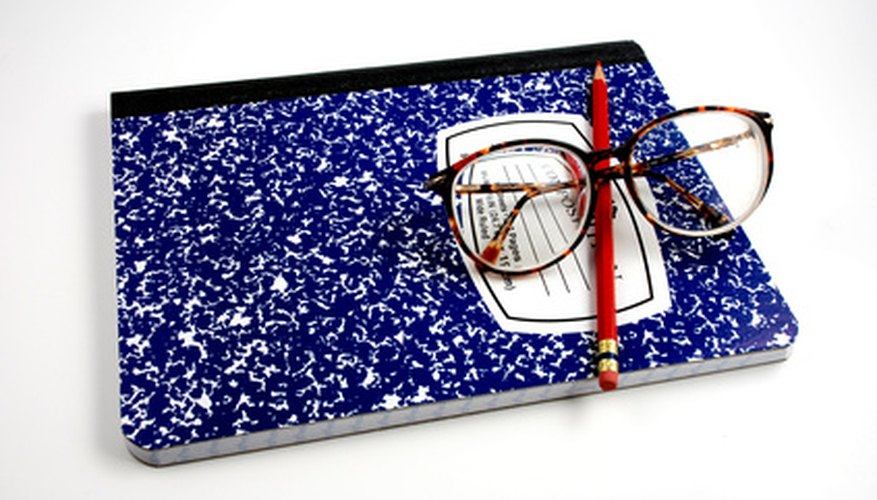 Composition notebooks are widely used by high-school and college students.