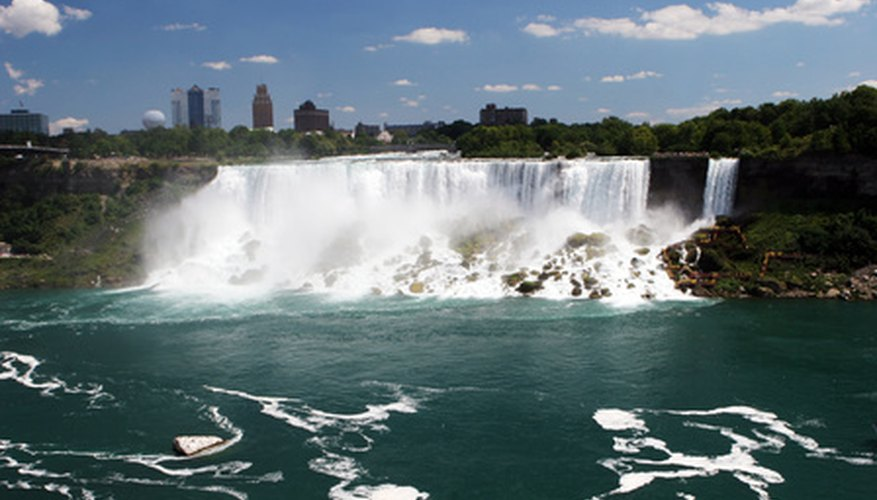 Niagara Falls, a large-scale example of mass flow and volume flow