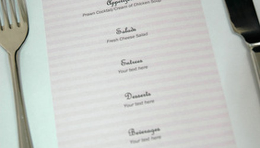 Paper menus can be sleek and simple.