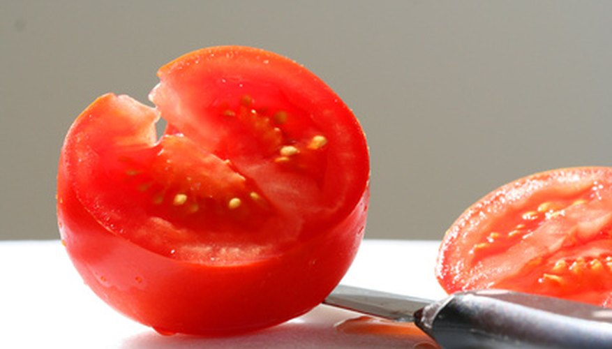 Tomato with seeds