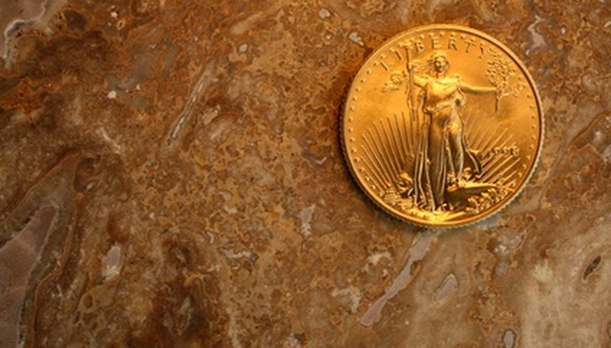 A 22 karat American Gold Eagle coin.