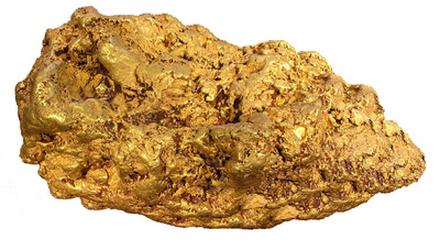A gold nugget is much heavier than most similarly sized objects.