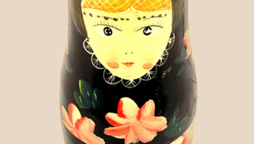 Russian dolls are a traditional wooden toy.