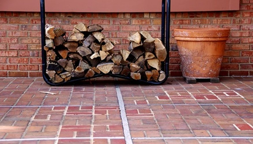A wood rack keeps firewood neat
