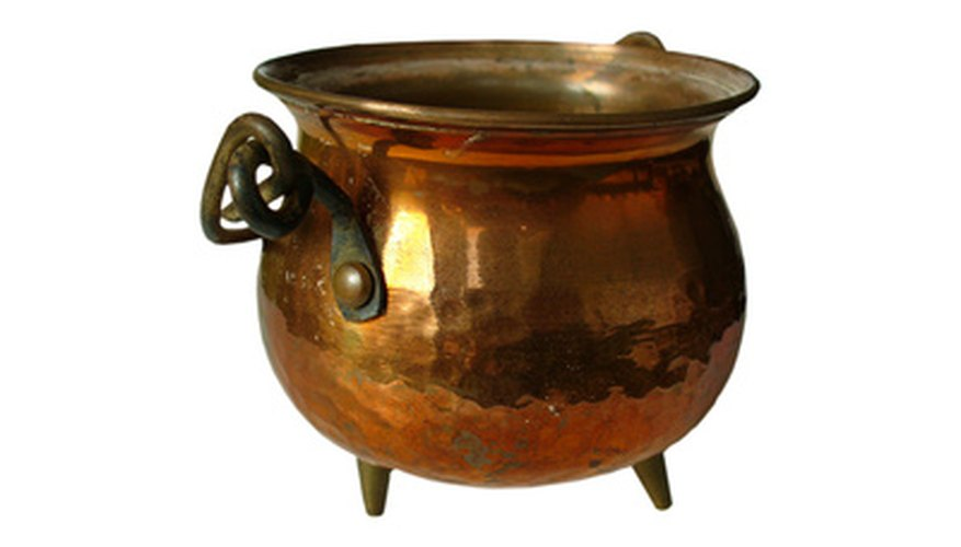 This copper kettle would make a perfect subject for engraving.