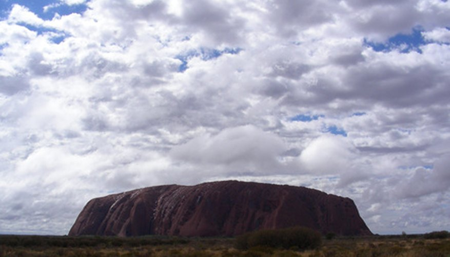 Ayers Rock is the Great Sandy Desert's most recognizable landmark.