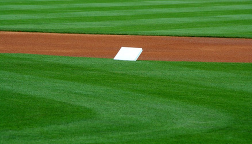 Ballparks often sport fancy lawn mowing patterns, but you can create them at home too.