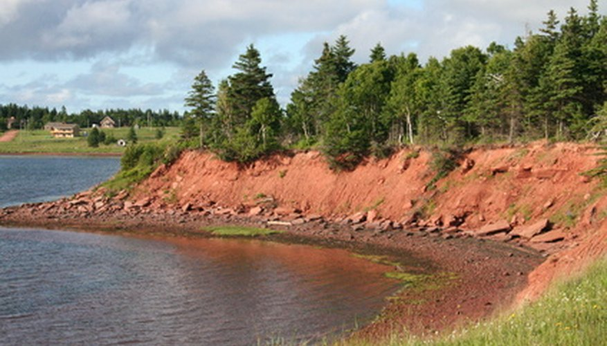 Prince Edward Island is famous for its red sand.