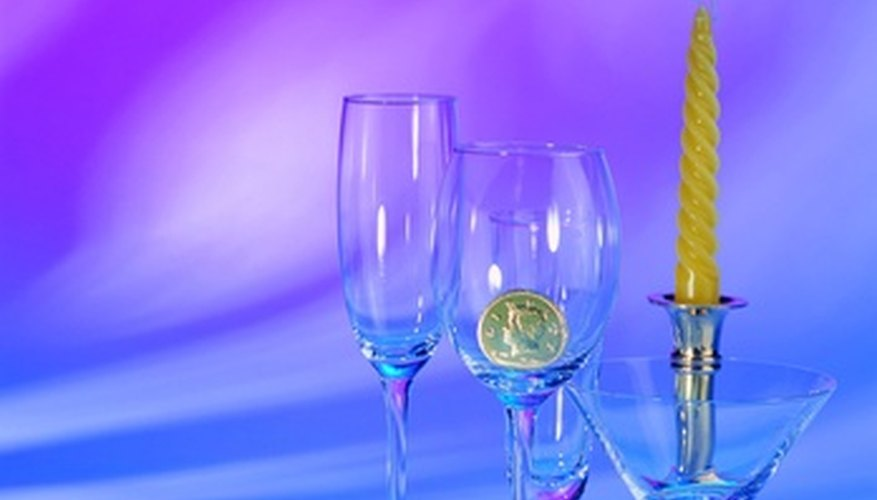 Crystal glasses are popular engraved gift items.